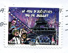 14 juillet, la Fête Nationale en timbres
