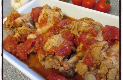 Blanquette de dinde à la tomate (cookéo)