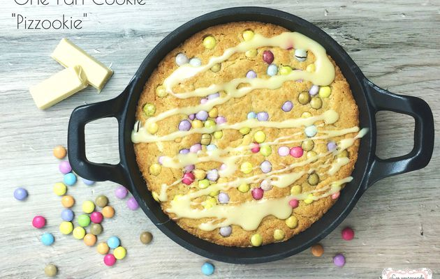 "One Pan Cookie ou ""pizzookie"" aux smarties"