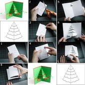 Bricolage Carte de Décoration Noel: Faites votre sapin en papier - Doc DORFFER Patrick