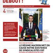 Deux ans de pouvoir... le régime Macron met en cause notre existence de syndicalistes CGT - Info'Com-CGT