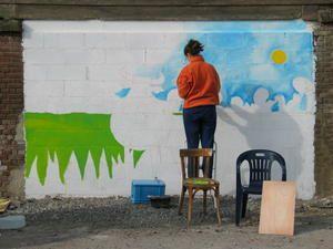 Fresque bovine à Wiège-Faty