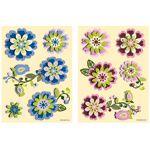 Plaquette stickers 3D fleur à 2,10€