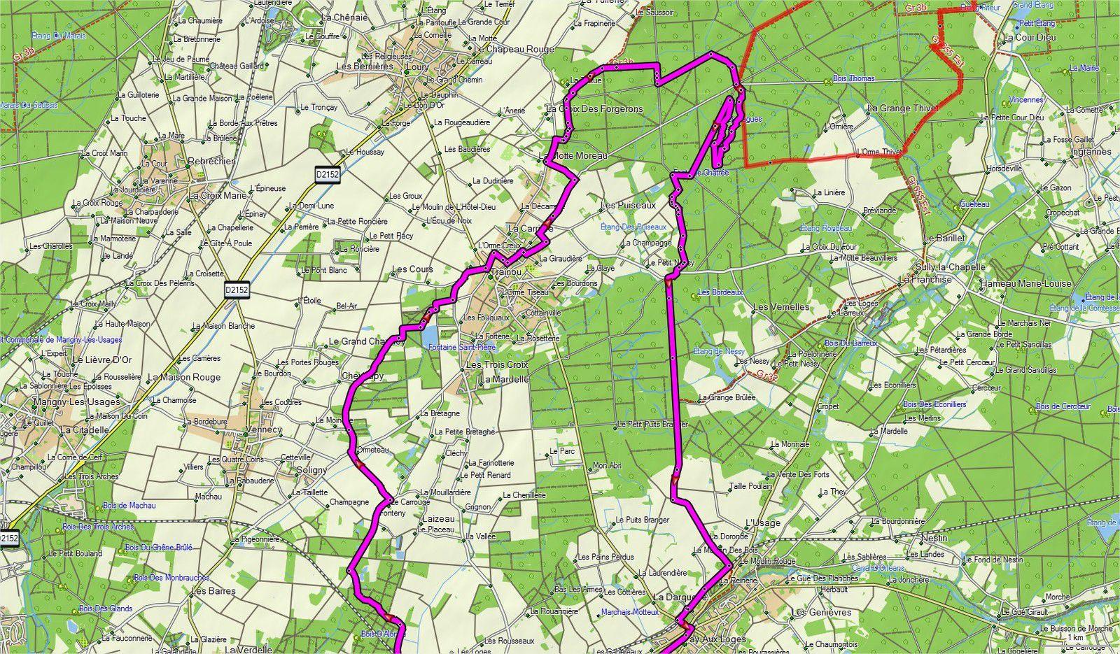 45 km VTT