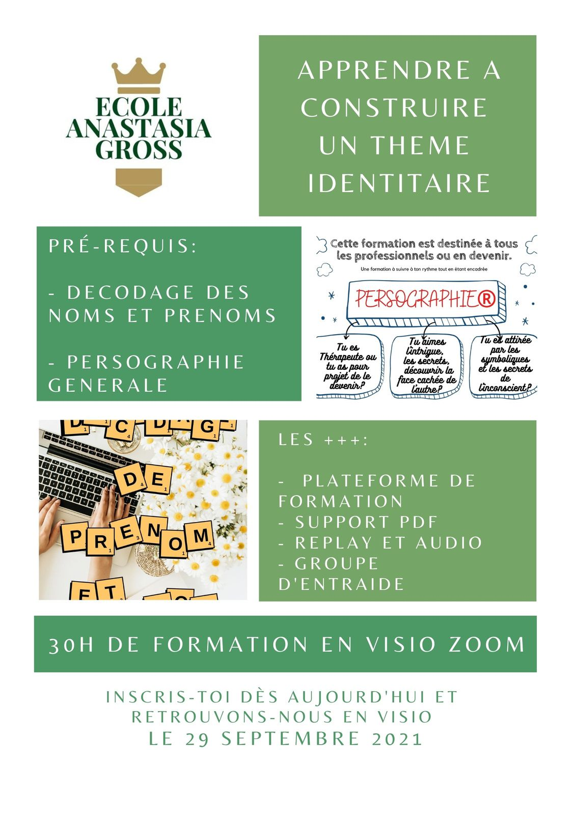 PACK DE FORMATION PERSOGRAPHIE + THEME IDENTITAIRE