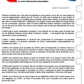 C/!\SH INFO - Jeudi 12 Novembre 2015 - L'équipe UNSA Soléa