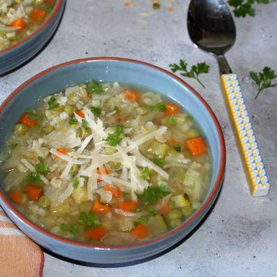 Potage de légumes aux 3 féculents