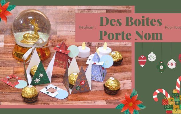 Réaliser : Des Boites Porte-Nom pour Noël...