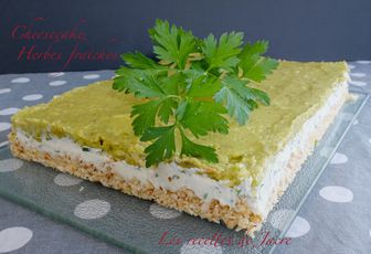 Cheesecake aux herbes
