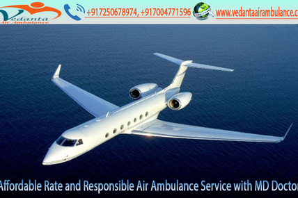 Cost-Effective Service provider by Vedanta Air Ambulance Service from Jabalpur