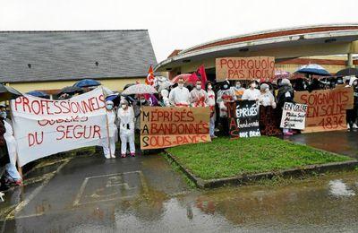 Lannion, Trestel, Gungamp, Begard, les oubliés du ségur de la santé protestent