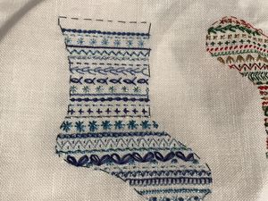 chaussettes de noel perlees et finies