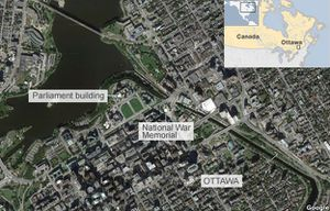 BBC - Ottawa shootings: Soldier killed and city on lockdown