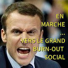 Macron - Vers le grand burn out social