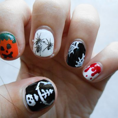 Nail art d'Halloween ! (sur ongles courts)