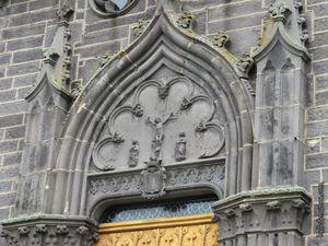 Les sculptures du portail d'entrée