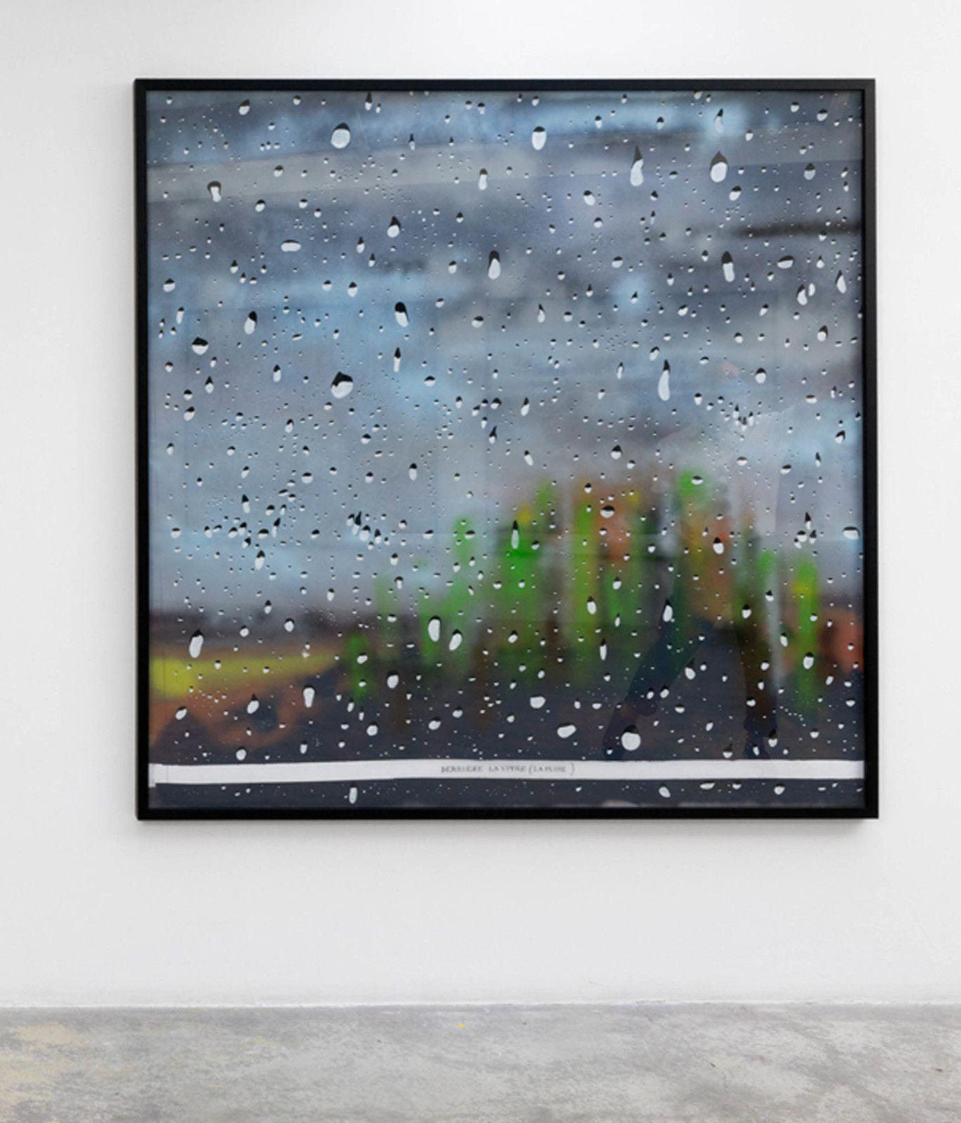 """""""Derrière la vitre (La Pluie) #2"""", 2020 de Gilles BARBIER - Courtesy Galerie G-P & N Vallois"""