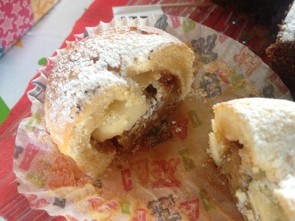 Muffins au chocolat blanc, coeur de speculos
