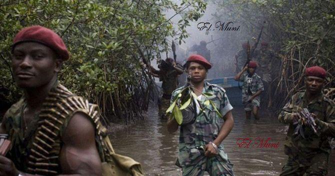 Imágenes los vengadores del delta del Níger.- El Muni.