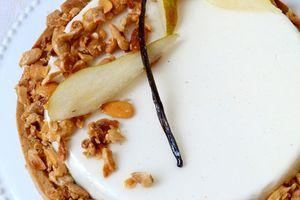 Tarte gourmande aux poires , muscovado et vanille