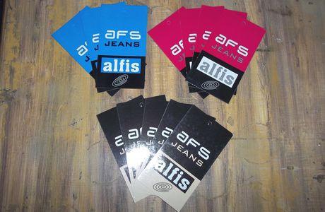 """Diseño e Impresión de etiquetas para jeans """"Alfis"""""""