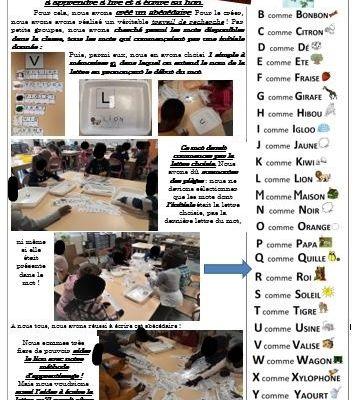 Ecrire un abécédaire avec vos élèves, P.1