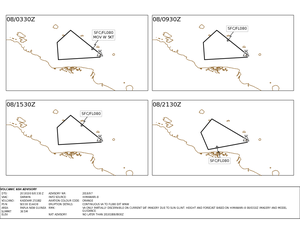 Kadovar - Volcanic ash advisory 28.09, 08.10, and 16.10.2018 - Doc. VAAC