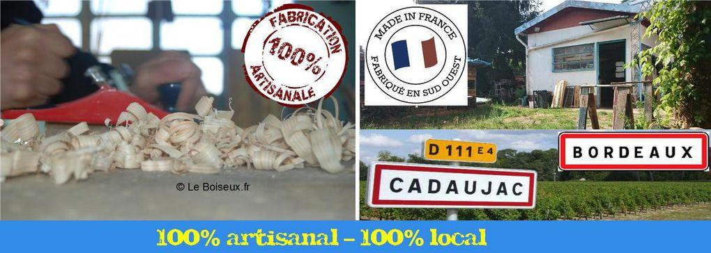 Table en bois recyclé : les rives de Garonne dans vos plateaux