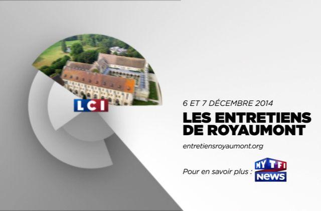 LCI partenaire télé exclusif des Entretiens de Royaumont ce week-end.