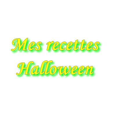 Mes recettes Halloween par ordre alphabétique