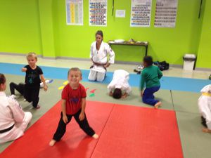 1er entraînement des baby judo
