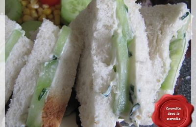 Club sandwich au concombre