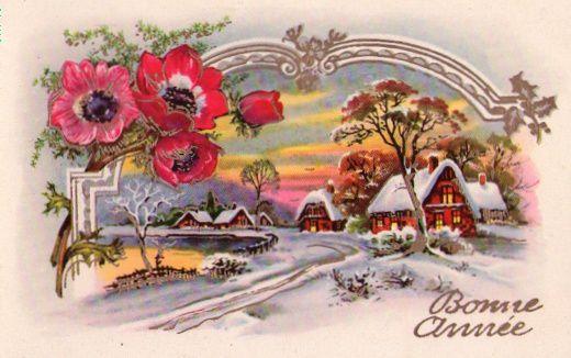 Bonne année carte ancienne