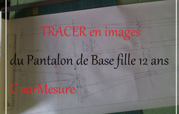 tracé en images pantalon Base fille