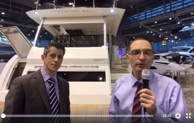 Video from Boot Düsseldorf - on live tour of the new Prestige 630