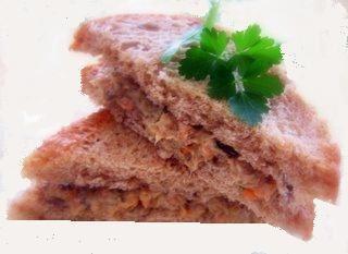 Sandwich au beurre de sardine