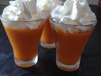 Verrines velouté glacé de carottes au miel et muscade