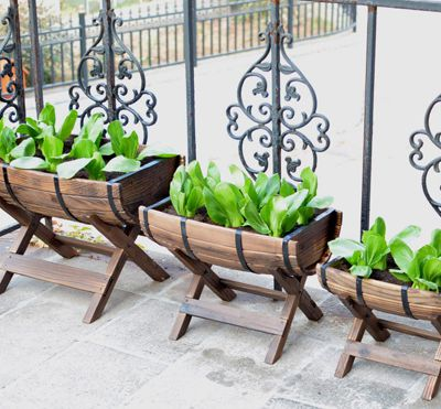Half Barrel Raised Garden Planters