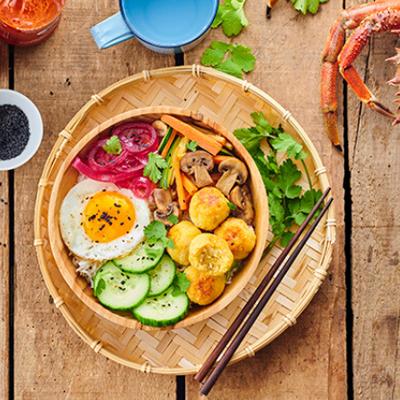 Recette revisitée du Bibimbap, plat exotique Coréen