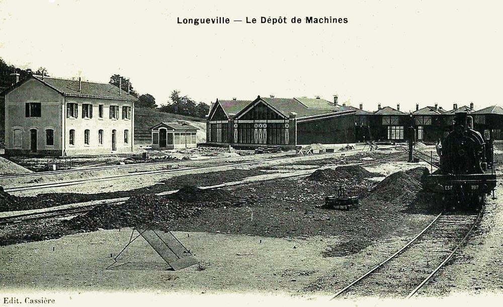 Longueville l'ancien dépôt des locomotives (1)