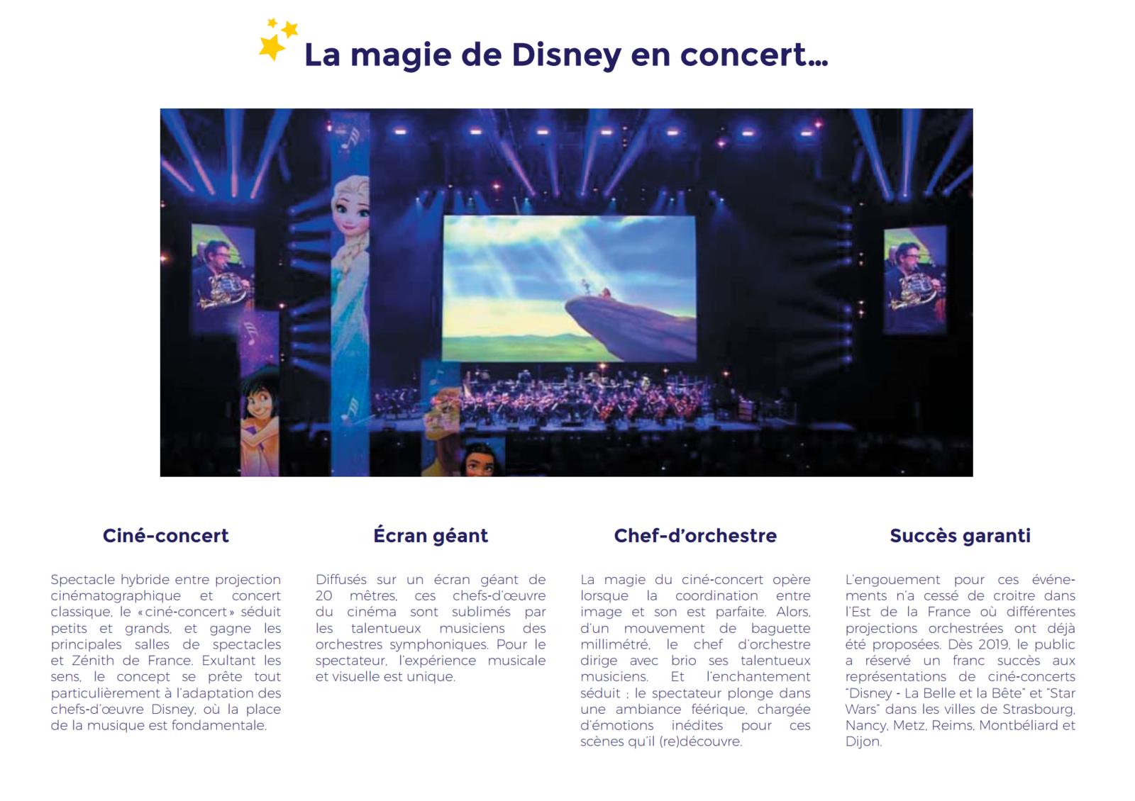 [ACTUALITE] Disney en ciné-concert - la tournée réenchante la France en 2021
