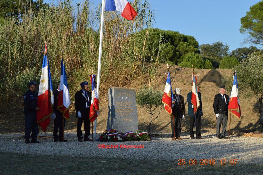 Commémorations du 25 septembre 2018 en fin d'après midi à Château Lascours et Saint-Maurice l'Ardoise (30 Gard).