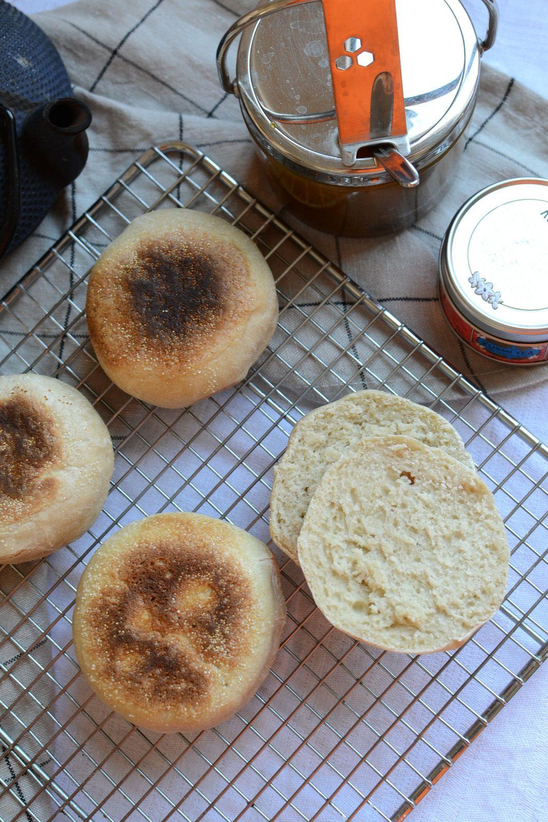 English muffins au levain