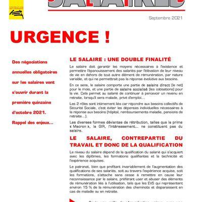 Tract urgence sur les salaires ! Sept 2021