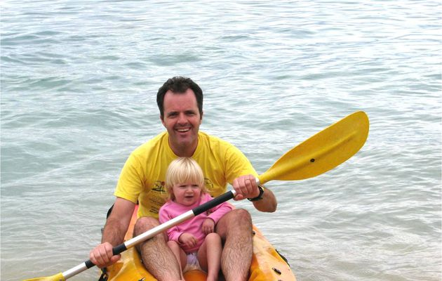 Margaux découvre le kayak de mer - 12 septembre 2010