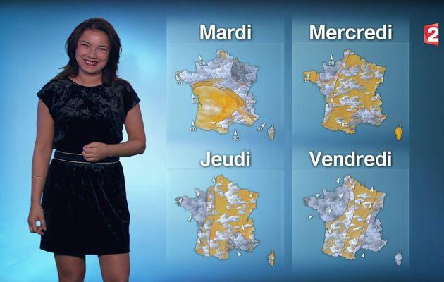 📸6 📺1 ANAIS BAYDEMIR pour LA METEO ce MIDI @France2tv #vuesalatele