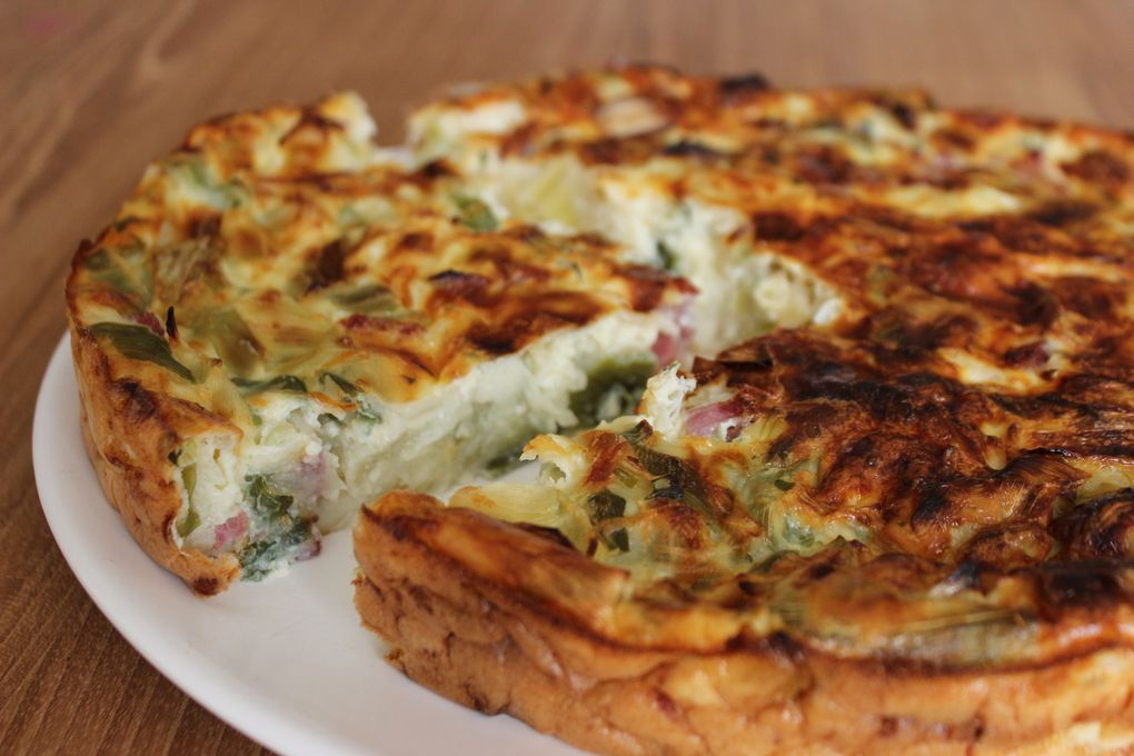 QUICHE MINUTE POIREAUX BACON