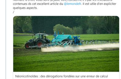 Néonicotinoïdes et betteraves: mésinformation dans le Monde de...