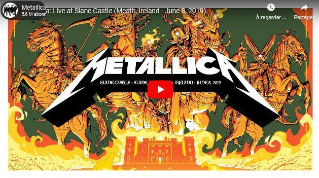 Zik : Metallica fait sa petite contribution avec la diffusion des concerts live