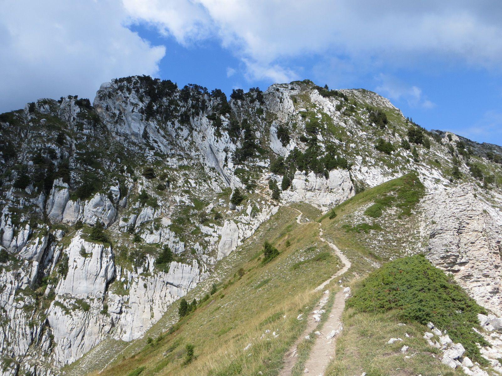 Col de Bellefont 1902m et Lance sud de Malissard 2045m